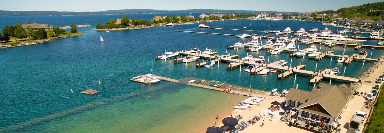 Enjoy Scenic Views on the Beaches of Bay Harbor, Michigan