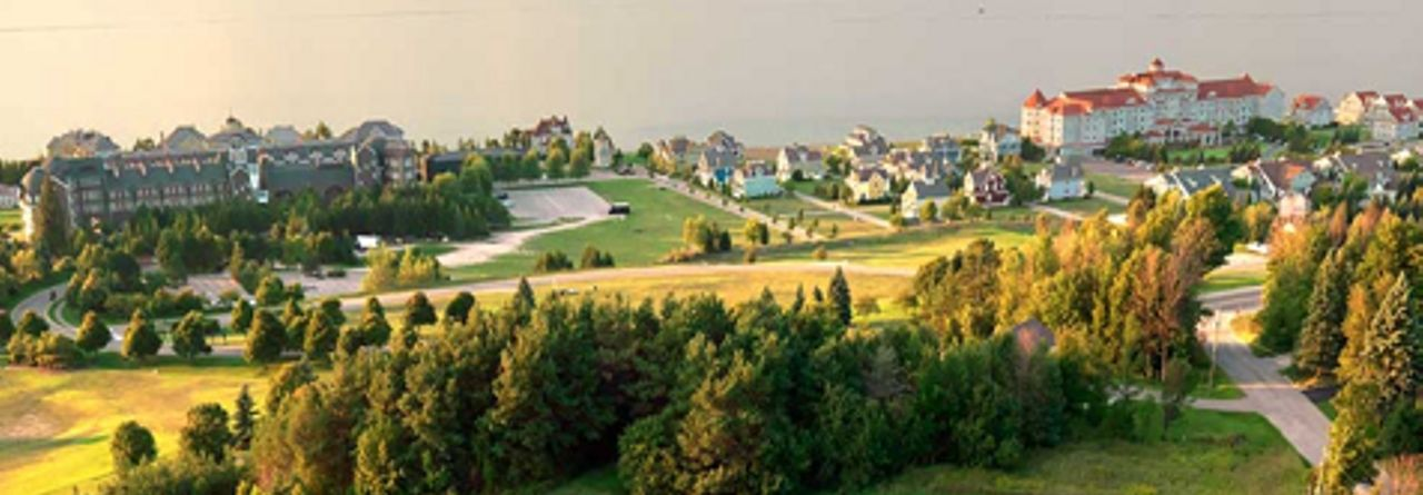 Bay Harbor Michigan golf course during start of Fall