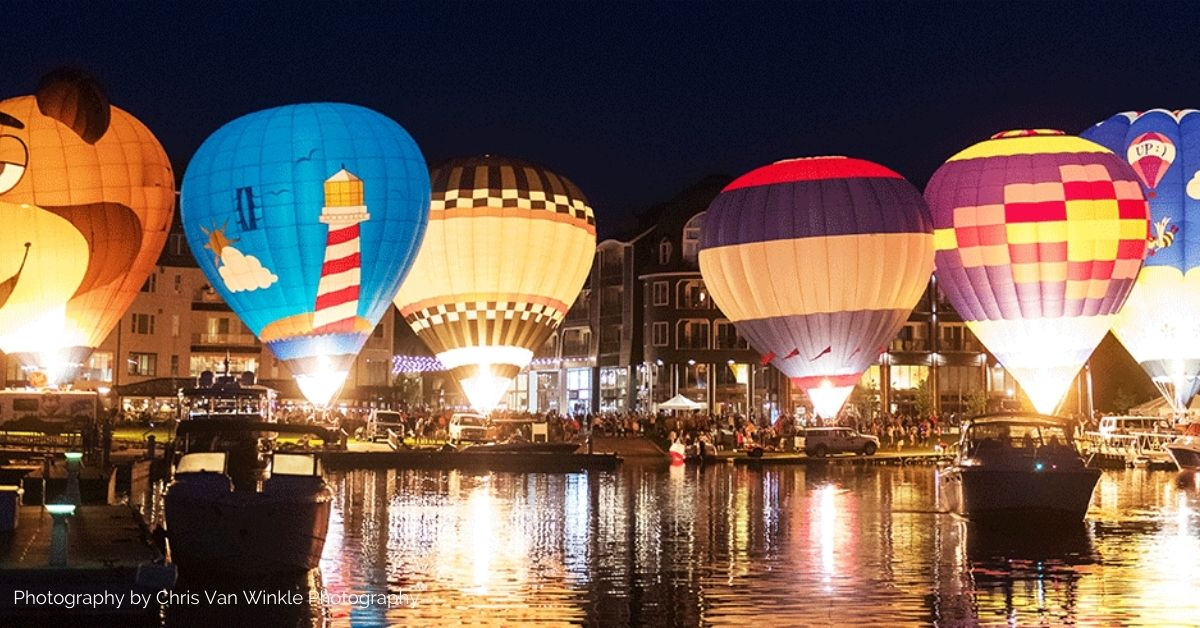Picture of balloons over Bay Harbor